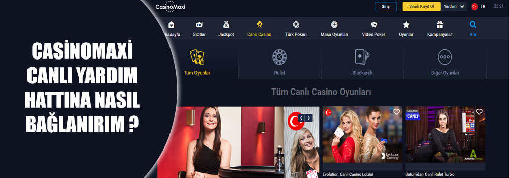 Casinomaxi Canlı Yardım Hattına Nasıl Bağlanırım?