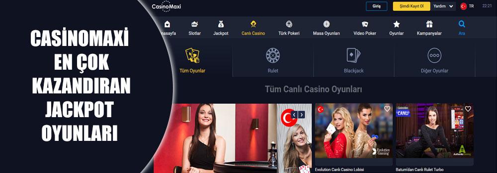 Casinomaxi En Çok Kazandıran Jackpot Oyunları