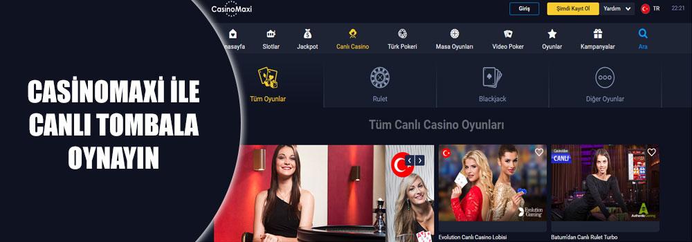 Casinomaxi İle Canlı Tombala Oynayın