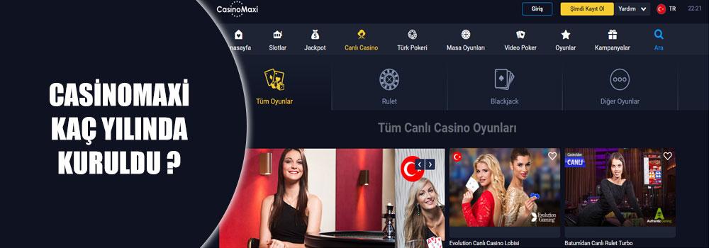 Casinomaxi Kaç Yılında Kuruldu?