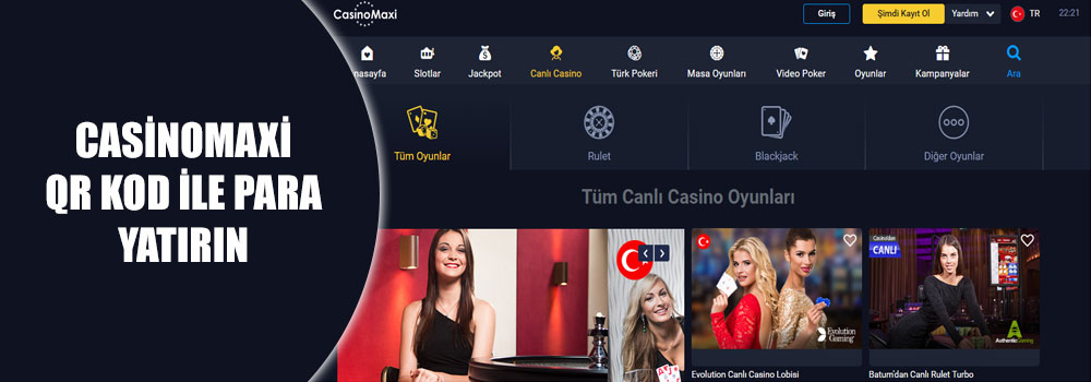 Casinomaxi QR Kod İle Para Yatırın