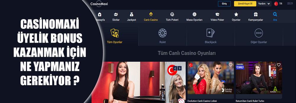 Casinomaxi Üyelik Bonus Kazanmak İçin Ne Yapmanız Gerekiyor?